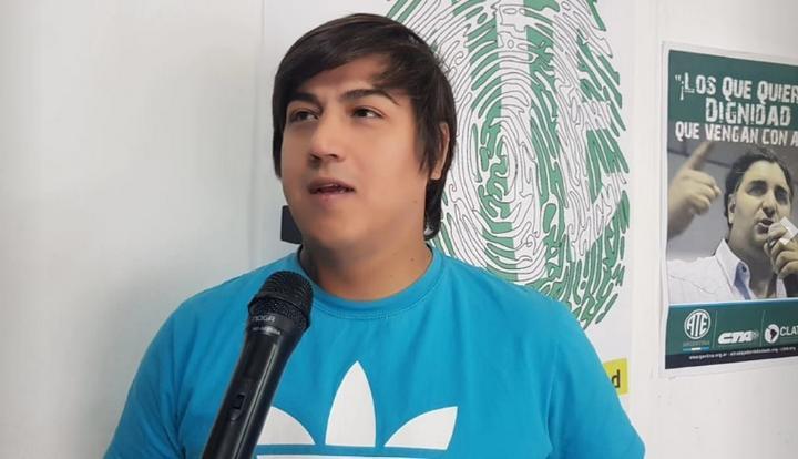 Rodrigo Britez Secretario Gremial de ATE