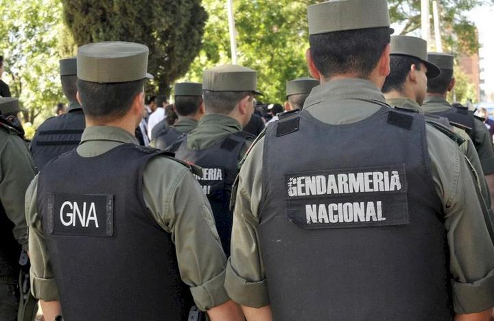 El procedimiento lo realizó personal de Gendarmería Nacional (foto archivo)