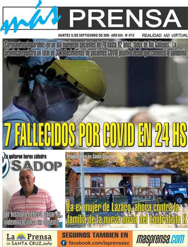 Tapa de La Prensa de Santa Cruz